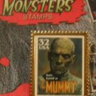 Boris Karloff Mummy Monster stamp pin lapel hat 3171