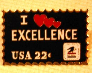 I Love Excellence stamp pin lapel pins hat mc1023