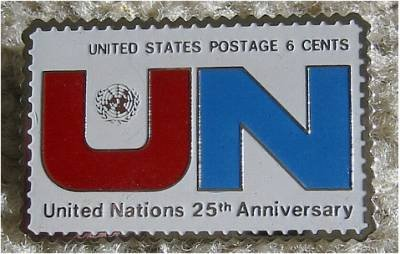 United Nations stamp pin lapel pins hat tie tac 1419
