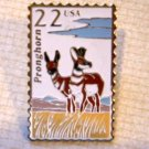 Pronghorn Antelope Wildlife stamp pin lapel pins 2313