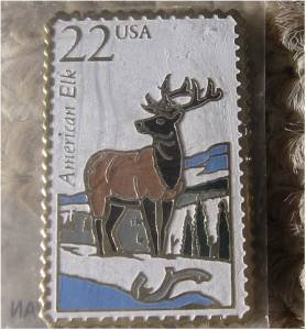 American Elk Wapiti Wildlife stamp magnet new 2328mg