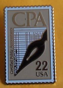 Certified Public Accountants CPA Stamp Pin hat 2361
