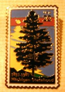 Michigan Statehood stamp pin lapel pins hat 2246