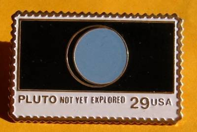 Pluto Unexplored NASA stamp pin lapel pins hat 2577 s