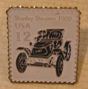 Stanley Steamer 1909 Stamp Pin hat lapel pins 2132