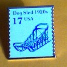 Dog Sled Stamp Pin collectible lapel hat tie tac 2135 s