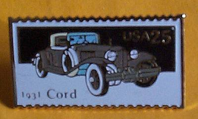 Cord 1931 Car Stamp Pin lapel pins hat tie tac 2383