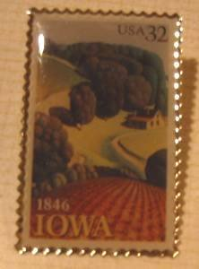 Iowa Statehood stamp pin lapel pins tie tac hat 3088 S