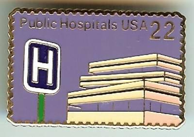 Public Hospitals stamp pin lapel pins hat tie tac 2210 S