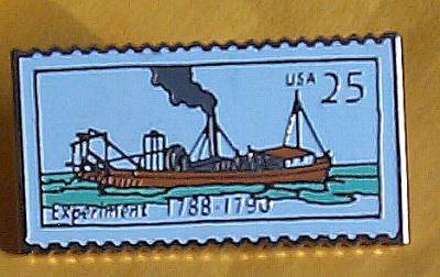 Experiment Steamboat Stamp Pin hat lapel pins 2405