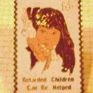 Help Retarded Children Stamp pin lapel pins 1549