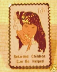 Help Retarded Children Stamp pin lapel pins 1549