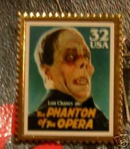 Lon Chaney Phantom Opera stamp pin lapel hat new 3168