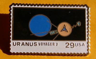 Uranus Voyager 2 Stamp pin lapel pins hat NASA new 2575 S