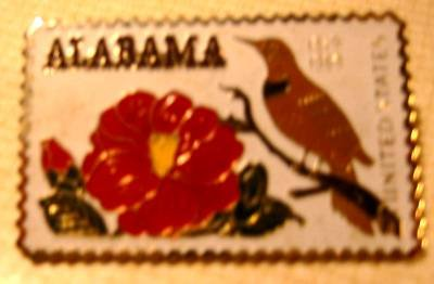 Alabama Camellia stamp pin tie tac lapel pins hat 1375