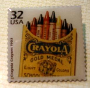 Crayons Crayola  Starts stamp pin lapel pins hat 3182d S