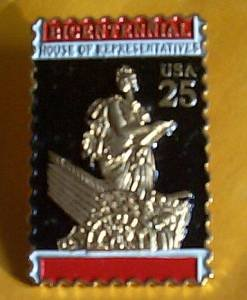 U.S. House Representatives Bicentennial Stamp Pin 2412
