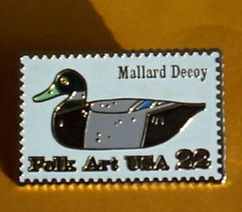 Duck Decoy Mallard Stamp Pin cloisonne lapel pins 2139