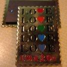Love 1984 Stamp refrigerator magnet goldtone 2072mgg