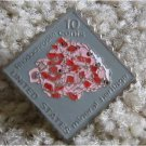 Rhodochrosite Minerals stamp pin lapel pins hat 1541