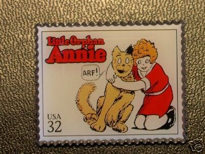 Little Orphan Annie Comics stamp pin lapel pins 3000j. S