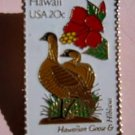 Hawaii Hawaiian Goose Hibiscus HI stamp pin pins 1963 s