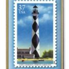 Cape Lookout NC Lighthouse stamp pin lapel tie tac 3788