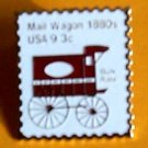 Mail Wagon 1880s stamp pin lapel pins tie tac hat 1903
