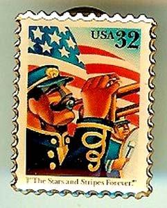 Stars Stripes U.S. Flag  stamp pin hat lapel pins 3153 S