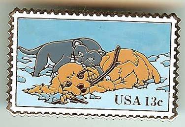 Puppy Dog Kitten Cat Stamp pin lapel pins hat 2025
