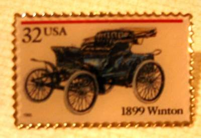 Winton Antique Auto Stamp Pin lapel pins hat 3022 s