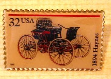 Haynes 1894 Antique Automobile stamp pin lapel 3020 s