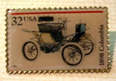 Columbia Antique Automobile stamp pin lapel pins 3021 s