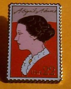 Abigail Adams Stamp Pin collectible lapel pins hat 2146 s