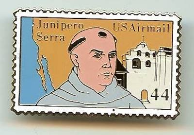 Father Serra CA stamp pin hat lapel pins tie tac C116 s