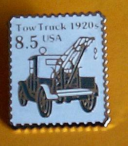 Tow Truck stamp pin collectible hat lapel pins 2129 s