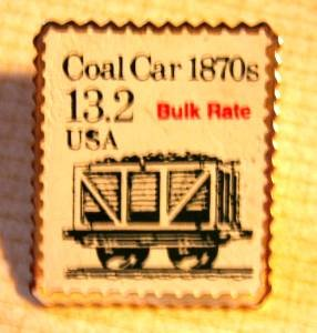 Coal Car Stamp pin lapel pins hat collectible 2259 S