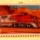 Super Chief Train Stamp Pin lapel pins hat tie tac 3337 S