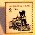 Locomotive Stamp pin lapel pins hat tie tac 2226 s