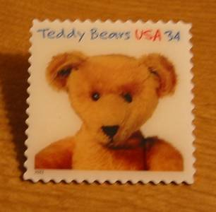 Teddy Bear Ideal Stamp pin lapel pins hat tie tac 3656 s
