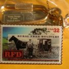 Rural Free Delivery Horse RFD stamp keychain 3090kc S