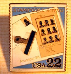 Stamp Collecting Ameripex 86 Stamp pin lapel pins 2201 s