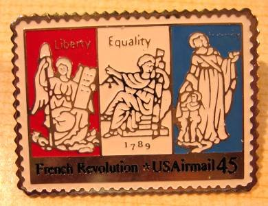 French Revolution stamp pin lapel pins tie tac hat C120 s
