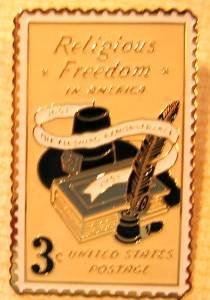 Religious Freedom stamp pin lapel pins hat tie tac 1099 S
