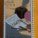 Public Education Stamp Pin hat lapel pins tie tac 2159 S