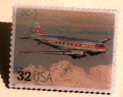 DC-3 Classic Aircraft Plane stamp pin lapel pins 3142Q  s