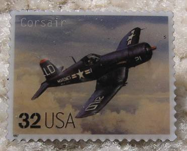 Corsair Classic Aircraft stamp pin lapel pins hat 3142g s