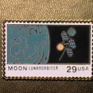 Moon Lunar Orbiter NASA stamp pin lapel pins hat 2571 s