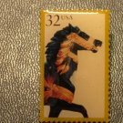 Carousel Horse with gold Bridle Stamp Pin lapel 2977 S