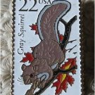 Gray Squirrel Wildlife stamp pin lapel hat tie tac 2295 S
